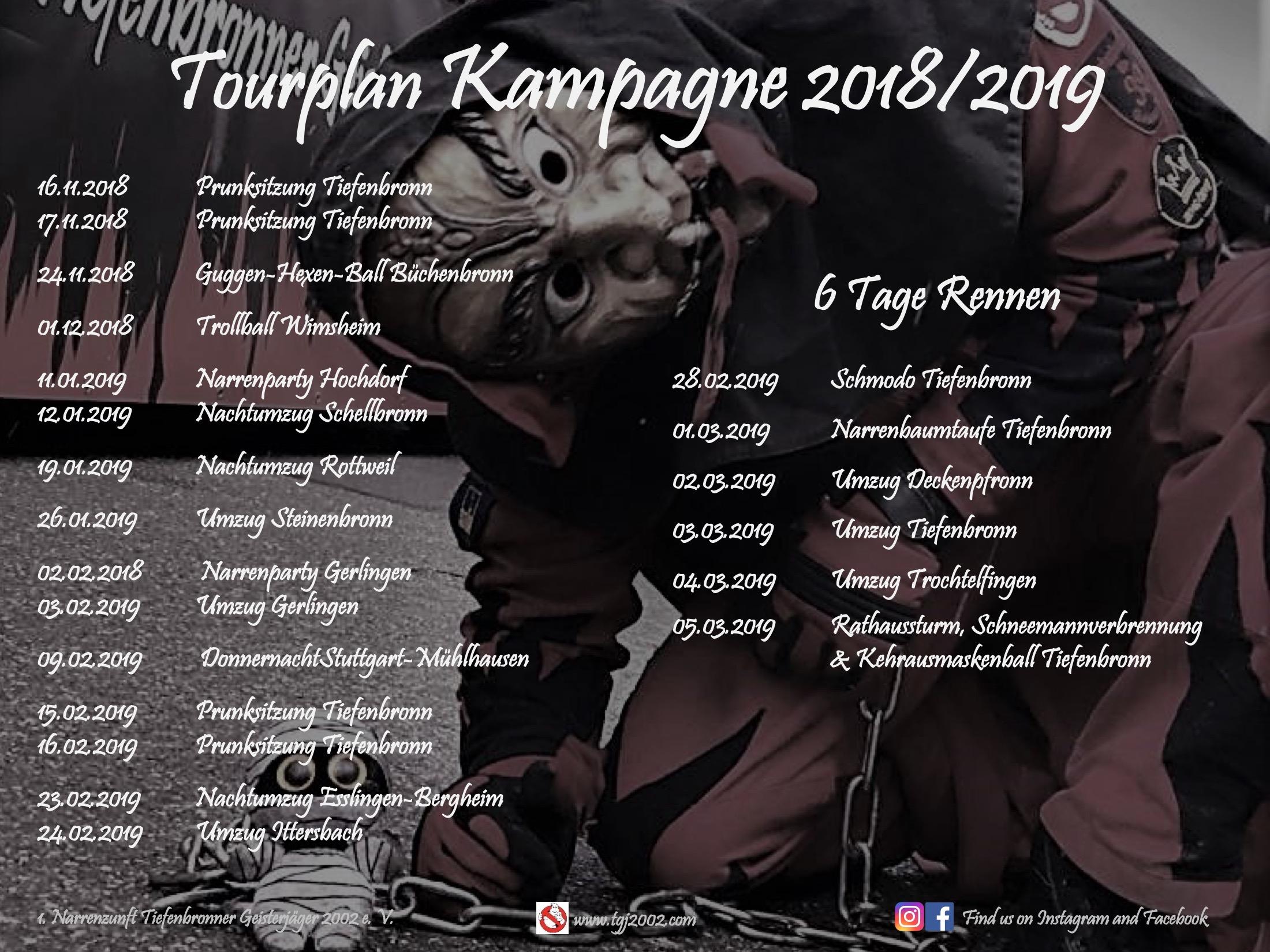 Tourplan 2018 2019